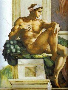 Ένας ignudo από την Capella Sistina