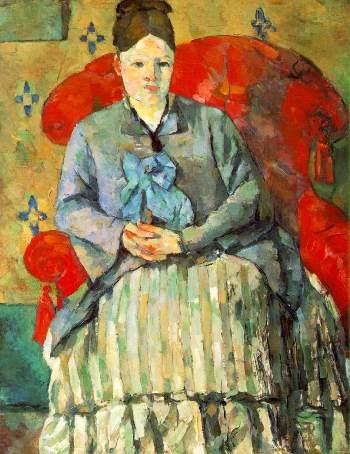 Paul Cézanne: Hortense Fiquet in a Striped Skirt (1877-8)