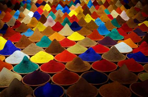 "Part of an installation called ""Campo de Color"" by Bolivian artist Sonia Falcone is pictured during the 55th La Biennale of Venice"