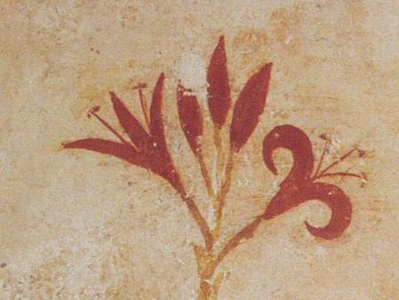 Λεπτομέρεια από τοιχογραφία της Θήρας