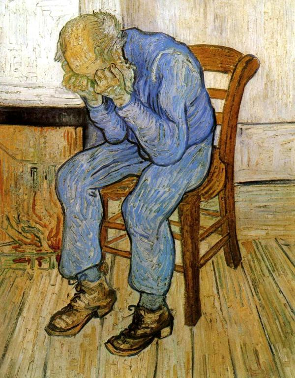 "Vincent van Gogh, ""Old man in sorrow on the threshold of eternity"", 1890"
