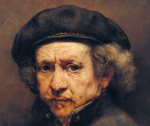 1659 Rembrandt, Self-Portrait with Beret and Turned-Up Collar, 1659, Oil on canvas, 84.4 cm × 66 cm, National Gallery of Art, Washington, D.C. (2)-004