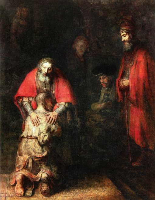 1669 Rembrandt, The Return of the Prodigal Son, 1669, Oil on canvas, 262 x 206 cm, The Hermitage, St. Petersburg (2)